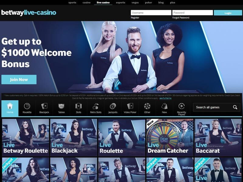 Betway Mobile Casino Download